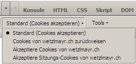 Firecookie: Cookie-Berechtigungen