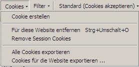 Firecookie: Cookies exportieren